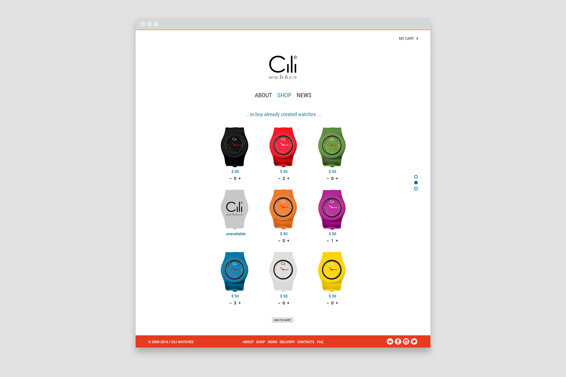Cili Watches website