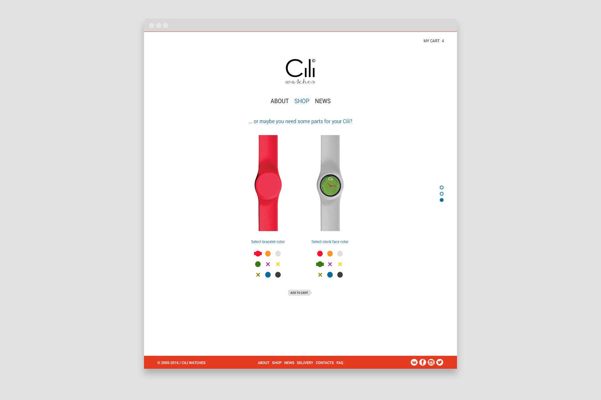 Cili Watches website